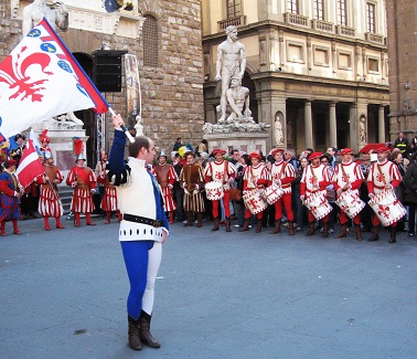 Flag Throwers at the Piazza della Signoria in Florence